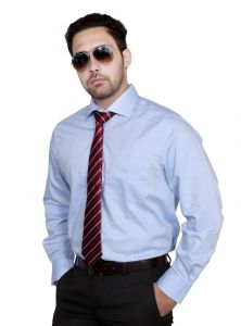 Formal Shirts (Men's) - IQ Pure Cotton Blue Shirt for men iqn-blue_3
