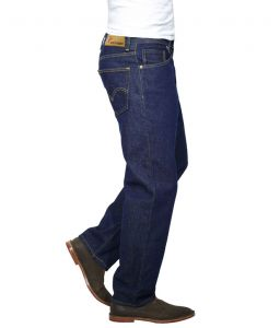 Jeans (Men's) - Masterly Weft Trendy Dark Blue Jeans_d-jen--4c
