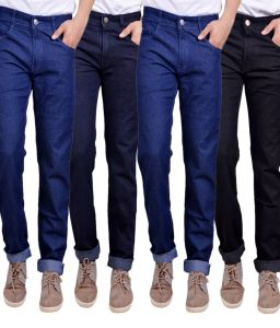 Jeans (Men's) - Masterly Weft Trendy  Multicolor  Pack Of 4 Mens Jeans (Product Code - D-JEN-1-2-3-3-3)