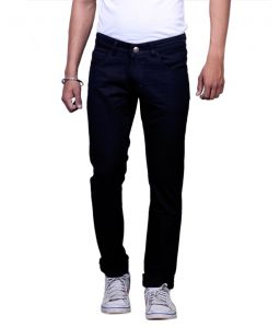Masterly Weft Black Cotton Blend Men Jeans (d-jene-1)