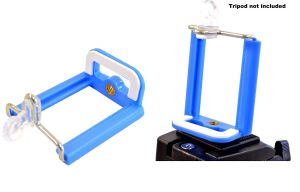 Aeoss  Camera Stand Clip Bracket Holder Tripod Monopod Mount Adapter For Mobile Phone (BLUE)