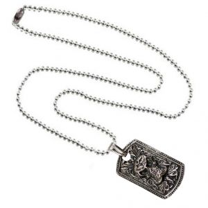 Men Style The King Cobra Skull Rectangular Gothic Silver And Blck Zinc Alloy Square Necklace Pendant For Men And Boys  (Product Code -SPn001013)