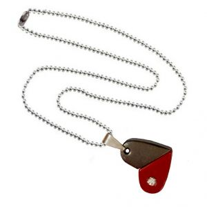Men Style Rotational Two Colour Twice Style Heart Or Bullet Red And Gray Stainless Steel Heart  Pendant (Product Code -  SPn011060)