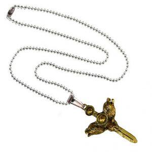 Men Style Animal Head Jesus Crucifix Cross Pendant Charm Necklace Men Women  Gold And Silver Zinc Alloy Pendant (Product Code -SPn003007)