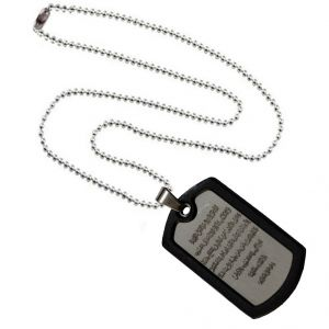 Men Style Spanish Lord's Prayer Bible Verse Cross  Black And Silver Stainless Steel Square  Pendant For Men And Boys (Product Code -SPn003009)