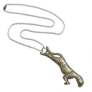 Men Style Antiqued Silver CheetahWild Animal Silver Nickel And Zinc Jaguar Pendant For Men And Women (Product Code - SPn09020)