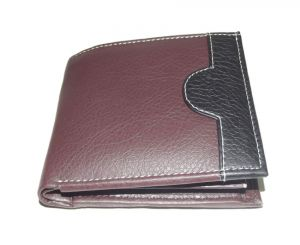 Pe Mens Designer Pu Leather Brown Money Wallet