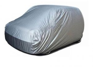 Body covers for cars - Spidy Moto Elegant Steel Grey Color with Mirror Pocket Car Body Cover Hyundai Santro Xing