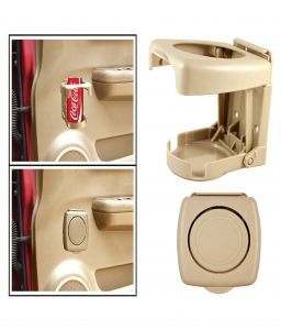 Car Accessories - Spidy Moto Beige Beverage Drink Cup Bottle Mount Holder Stand - Mahindra e20