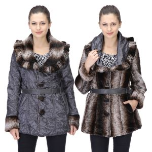 79383699ced Le Fashionelle Full Sleeves Stylish European Winter Jacket with High Grade  Polyfill for Women s Girl s- LF-GJACKET-106 (Reversible Jacket)