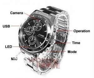 Security, Surveillance Equipment - 4GB Spy Wrist Watch With HD Camera Video Audio Dvr