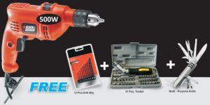 Black & Decker Drill Machine 41pcs Tookit 13pcs Drill Machine & Army Knife