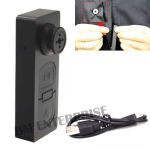 Spy Mini Button S-918 Button Pinhole Hidden Camera With Digital Audio Video Recorder With USB Cable