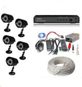5 IR Bullet Cctv Camera 8 Channel Dvr All Required Connector 60mtr N More