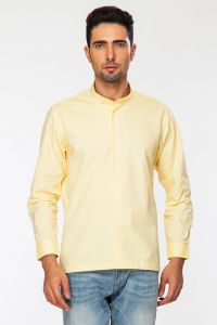 Dapper Homme Yellow Color Egyptian Cotton Slim Fit Shirt For Men