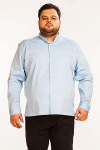 Formal Shirts (Men's) - DAPPER HOMME Blue color Egyptian Cotton  Plus sized shirt for men