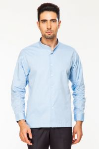 Dapper Homme Blue Color Egyptian Cotton Slim Fit Shirt For Men