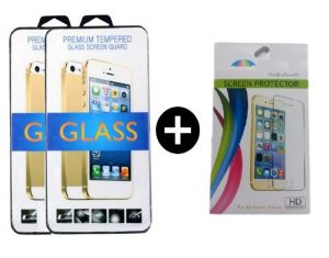 Motorola - Tempered Glass For Motorola Moto G3 With Free Screen Guard (set Of 3)