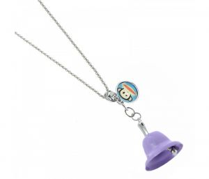 Sanaa Creations Trendy Purple Color Bell Shape With Animal Tag Keychain/Pendant-(Product Code-1KP70)