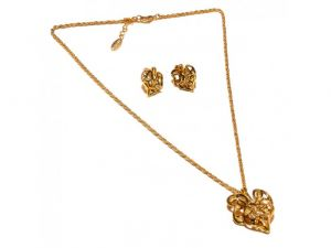 d6d73ad1b Sanaa Creations Abstract Pendant & Earring Design Gold Plated Set-(Product  Code-1NK54)