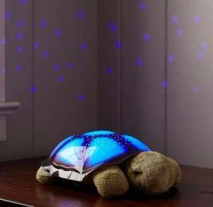 Elegant Turtle Shaped Night Light Star Constellation Bed Side Lamp