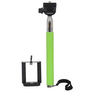 Spider Designs Monopod Selfi Stick With Zoom & Shutter Remote Green Sd-332