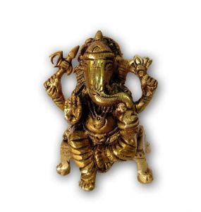 Beautiful Brass Ganesha Decorative Murti Mangalkari