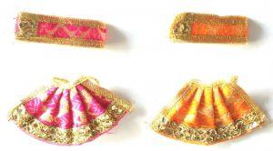 Beautiful Lace And Classy Work Lehanga For Mataji / Designer Lehanga