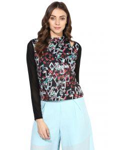 6147745d642 Buy Soie Women'S Grey Cold Shoulder Crop Top Online | Best Prices in ...
