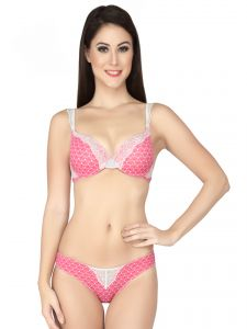 Soie Diamond Print Wired Padded Bra And Matching Panty (code - Set 517+1517diamonds)