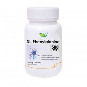 Biotrex DL-Phenylalanine 500mg - 60 Veg Capsules