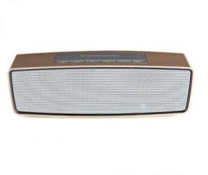 Rechargeable Bluetooth Speaker With SD USB Aux- In Slot (golden)