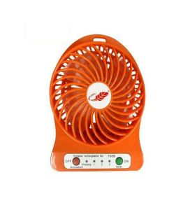 Portable Rechargable,3 Speeds USB Fan With Night LED