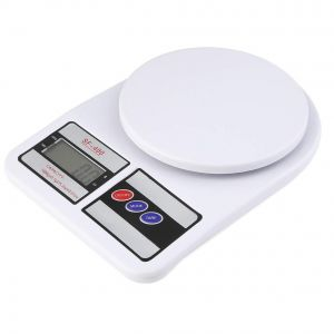 Kitchen weighing scale - Multipurpose Portable Electronic Digital Kitchen Weighing Machine with Backlight Display (10 Kg Capacity)- SF-400 WHITE
