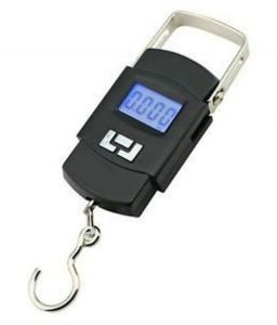 Kitchen weighing scale - 50kg Digital LCD Pocket Portable Hanging Kitchen Weighing scale-BLACK