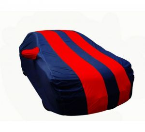 Body covers for cars - Autofurnish Stylish Red Stripe Car Body Cover Maruti Suzuki New Alto 800 - Pearl Blue