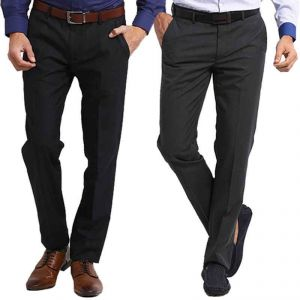 Trousers (Men's) - Gwalior Pack Of 2 Stitched Formal Trousers