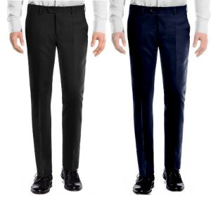 Trousers (Men's) - Amar Deep Formal Trouser Pack Of 2 - Black Blue