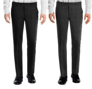 Trousers (Men's) - Amar Deep Formal Trouser Pack Of 2 - Black Grey