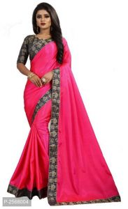 Mahadev Enterprise Pink Paper Silk Saree With Running Blouse Pic(code-bbc136c)