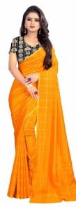 Mahadev Enterprise Yellow Panther Plain Silk Saree With Jacquard Blouse Pics ( Code -bbc137d)
