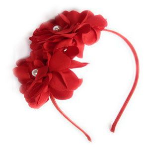 Hair accessories for girls - Tangy Kid's Flower Ear Hairband for Kids-(code-flowerred)
