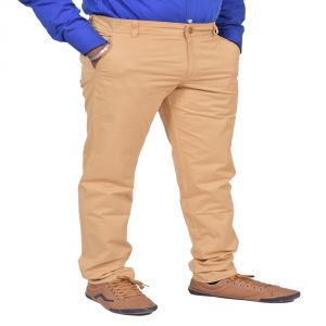 Trousers (Men's) - Just Trousers Khaki Regular Fit Casuals Chinos - ( Code - 34-JD001 )