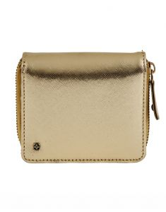 Jl Collections Gold Polyurethane (pu) Ladies Wallet (15 Card Slots) ( Code - Jl_3407_gd)