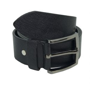 Jl Collections Sufiano Men Casual Black Genuine Leather Belt (code - Jl_bl_12-sufiano)