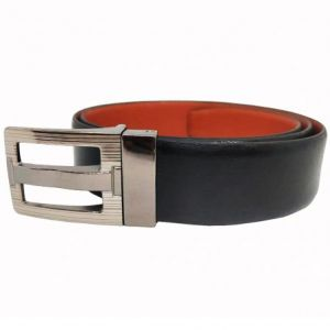 Men's Accessories - Jl Collections Men's Black And Tan Genuine Leather Reversible Belt (code - Jl_bl_bally)