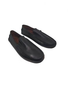 Footwear - JL Collections Men's Formal Black Mocassin Shoe (Code - JL_MS_3488_BK)