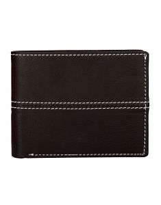 Jl Collections Mens Black Genuine Leather Wallet (10 Card Slots)