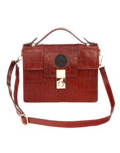 Jl Collections Women Brown Leather Shoulder Sling Bag (code - Jl_sb_3450)