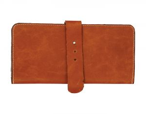 Jl Collections 7 Card Slots Camel Unisex Leather Travel Wallet